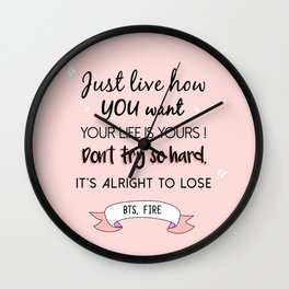 BTS Quote Wall Clock