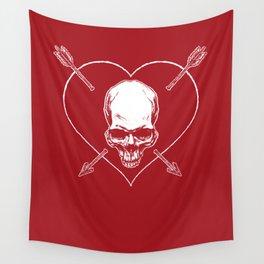 Eros & Thanatos (Joli Rouge Red Flag) Wall Tapestry