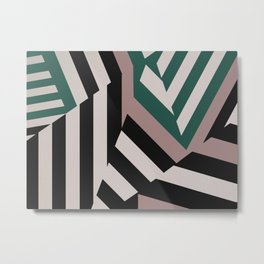 ASDIC/SONAR Dazzle Camouflage Graphic Design Metal Print