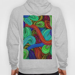 Psychedelic Lines (Red) Hoody