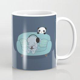 Kawaii Elephant And Panda Coffee Mug