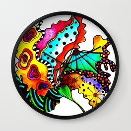 Abstract Flower 2 Wall Clock