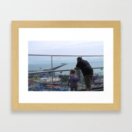 LOOKING DOWN ONTO sOUTHEND PIER Framed Art Print