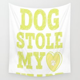 A Rescue Dog Stole My Heart Wall Tapestry