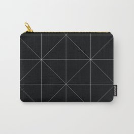 Geometric black and white Carry-All Pouch