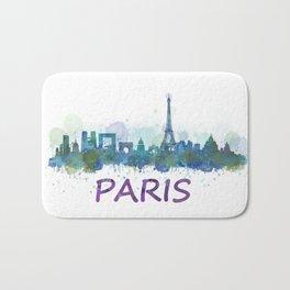Paris City Skyline HQ Bath Mat