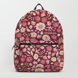 Boho Birds and Flowers Backpack
