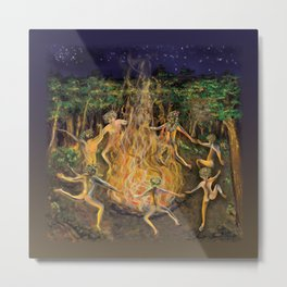 DANCING NAKED IN THE FOREST Metal Print