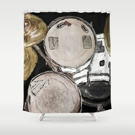 drum set, ready to rock Shower Curtain