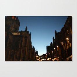 The Blur of Edinburgh. Canvas Print