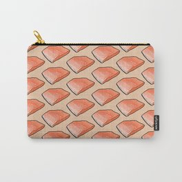 Salmon Fish Fillet Fiesta, Seafood on Peach Carry-All Pouch