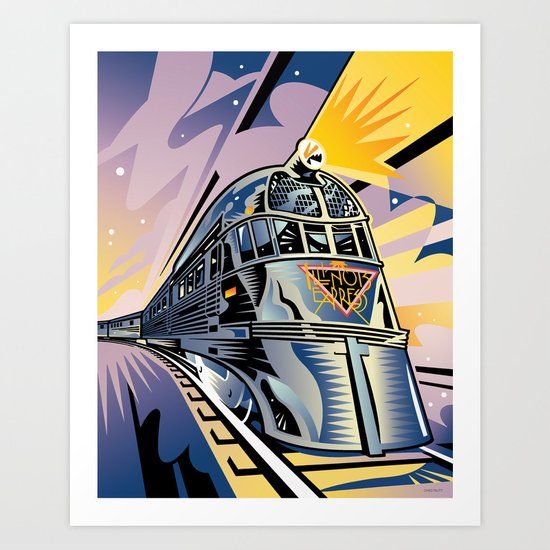 Pioneer Zephyr Train Art Print