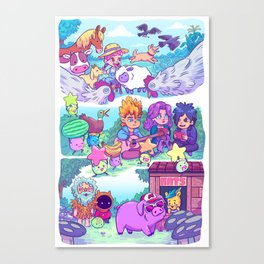 Stardew Valley - All My Friends Are Here Canvas Print
