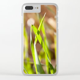green sprout grass Clear iPhone Case