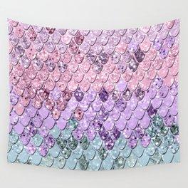 Mermaid Scales with Unicorn Girls Glitter #1 #shiny #pastel #decor #art #society6 Wall Tapestry