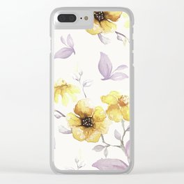 FLOWERS WATERCOLOR 27 Clear iPhone Case