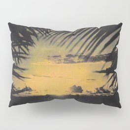 Hawaiian Sunset on Waikiki Beach Vintage Photo Pillow Sham