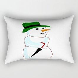 The Happy Snowman Rectangular Pillow