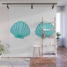 Mermaid Shell Bra Wall Mural