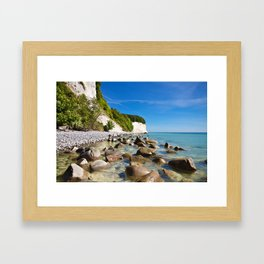 Chalk cliffs on the island Ruegen Framed Art Print
