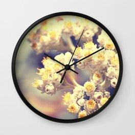 C'est La Vie - macro floral photography Wall Clock