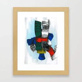 Lego Modularity Framed Art Print