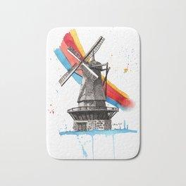 The Windmill and the Rainbow Bath Mat