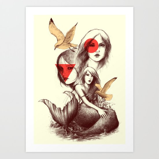 When Mermaids Cry Art Print