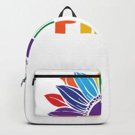 Pride Rainbow Sunflower LGBT Backpack