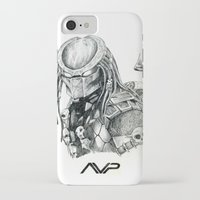 predator iPhone & iPod Cases featuring Predator. by Gary Barling