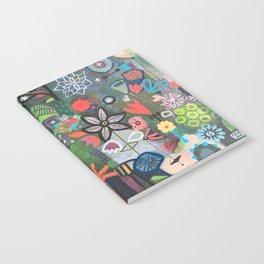 carré fleuri imaginaire 2 Notebook