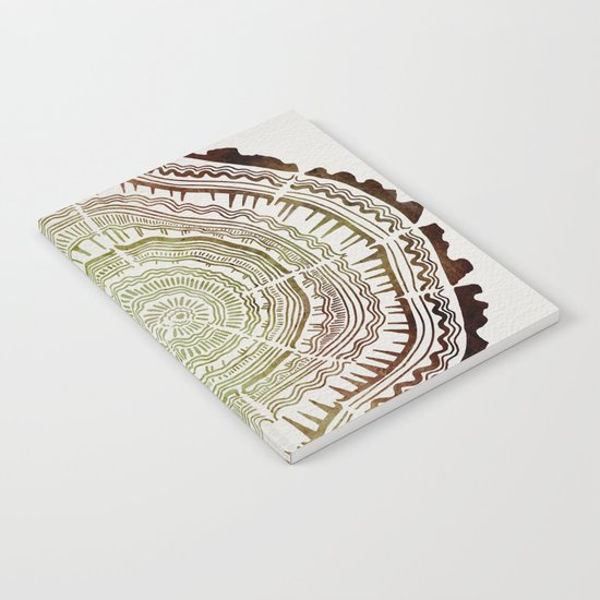 Tree Rings – Watercolor Ombre Notebook
