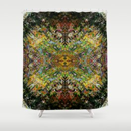 Blueprint of the Universe Shower Curtain
