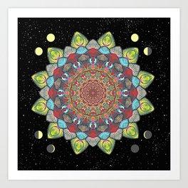 SUN MOON MANDALA Art Print