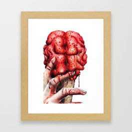Brain cone Framed Art Print