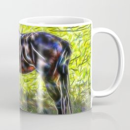 Abstract horse standing in paddock Coffee Mug