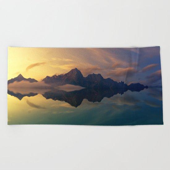 Mountain Reflection Beach Towel