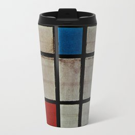 Piet Mondrian Composition with Red, Yellow and Blue Travel Mug