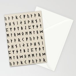 Nordic Runes // Whale Bone Stationery Cards
