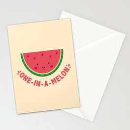 One in a Melon (Watermelon) Stationery Cards
