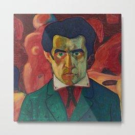 Kazimir Malevich, Self Portrait Metal Print