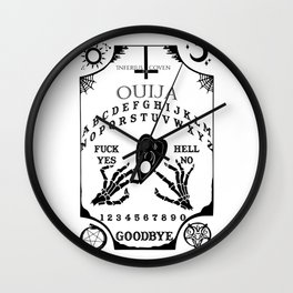 Ouija Board (Black Version) Wall Clock