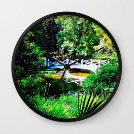 Magnolia Plantation White Bridge Wall Clock