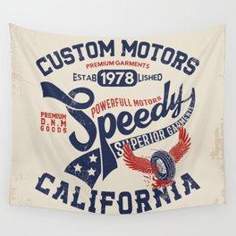 Custom motors california graphic Wall Tapestry