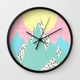Memphis Mountains Wall Clock
