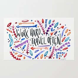 Work Hard Travel Often Rug