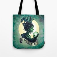 wicked Tote Bags featuring WICKED by Tim Shumate