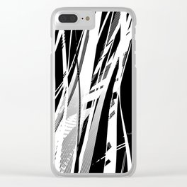 Catched in Circles Clear iPhone Case