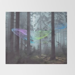 Whale Music in the Forest Throw Blanket