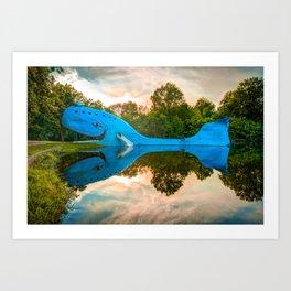 Blue Whale of Route 66 - Owasso Oklahoma Art Print